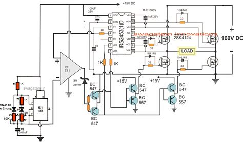 Wiring Diagram Inverter Mitsubishi by 3kva Transformerless Inverter Circuit Projects To Try