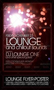 Lounge flyer poster template night club fliers for Nightclub flyer templates