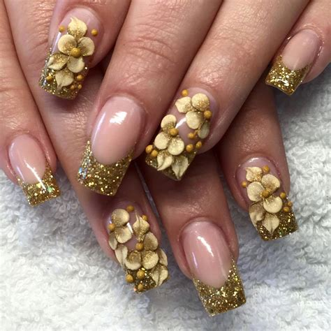 gold nail designs 25 acrylic nail ideas to try this year inspiring