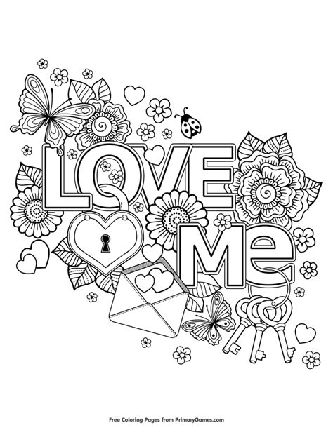 valentines day coloring pages  love  valentine