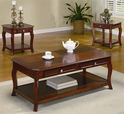 3 Piece Occasional Table Set  Coffee Table Sets