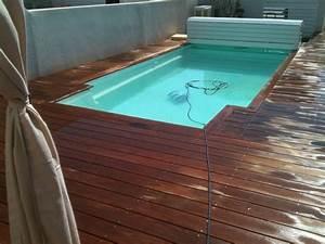 Bois Terrasse Piscine : bleu piscine suivi d 39 un chantier de piscine coque ~ Edinachiropracticcenter.com Idées de Décoration
