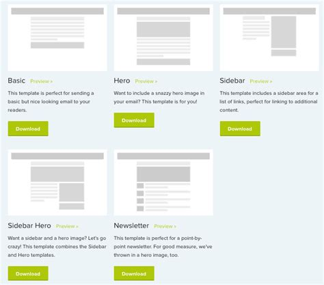 responsive email templates    start