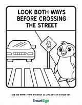 Safety Crossing Street Coloring Worksheet Printable Ways Both Before Awareness Worksheets Child Activities Elderly Teaching sketch template