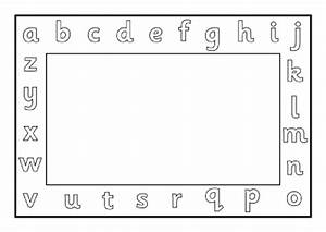 Alphabet A4 Page Borders - Black and White (SB11409 ...