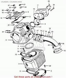 Honda Ct90 Trail 1966 K0 Usa Cylinder    Cylinder Head
