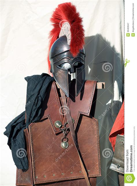 spartan armor stock image image  circus greco history