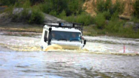 land rover defender  water youtube