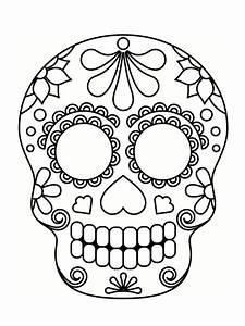 Tete De Mort Mexicaine Dessin : coloriage t te de mort mexicaine 20 dessins imprimer ~ Melissatoandfro.com Idées de Décoration