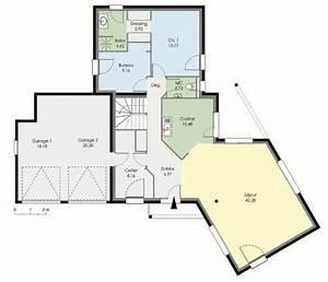 maison contemporaine detail du plan de maison With plan maison demi niveau 4 maison familiale 8 detail du plan de maison familiale 8