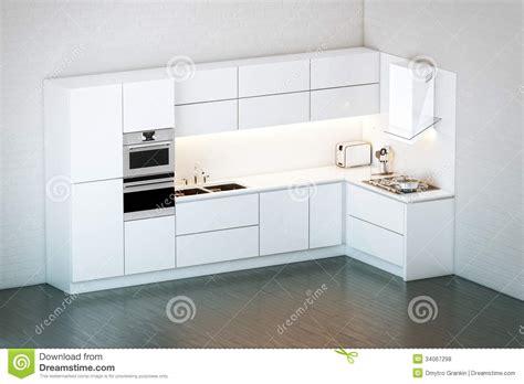 cuisine minimaliste cuisine blanche de luxe dans le style minimaliste photos