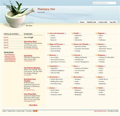 directory template free phpld templates php link directory skins themes