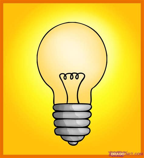 How To Draw A Light Bulb by How To Draw A Bulb Step By Step Stuff Pop Culture Free