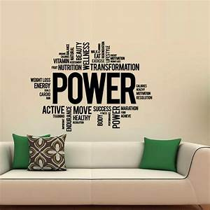power fitness wall decals art vinyl sticker sport gym With best 20 lettering decals for the wall