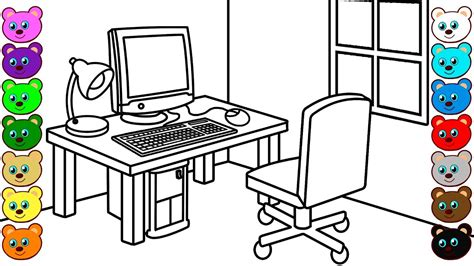 computer room coloring page  kids youtube