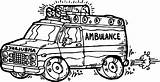 Ambulance Coloring Pages Minivan Trucks Trains Cartoon Drawing Colouring Rescue Emergency Getcolorings Printable Getdrawings Preschool Cars sketch template