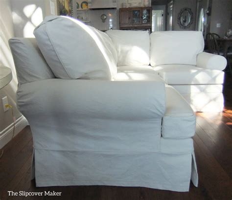sectional slipcover in duck cloth the slipcover