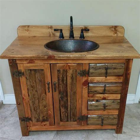 Rustic Bathroom Vanity Plans Rustic Bathroom Vanity 42 Rustic Log Vanity