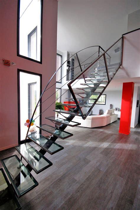 escalier m 233 tal et verre design et sur mesure 224 villeurbanne escalier kocentrik koc006 kozac