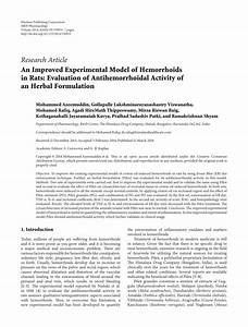 (PDF) An Improved Experimental Model of Hemorrhoids in ...