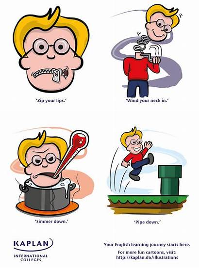 Idioms Quiet Shhh Cartoon English Fun Cartoons