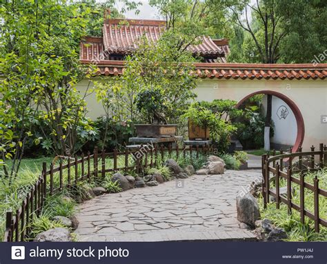 Beautiful Traditional Chinese Garden Situated In The Green