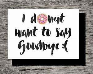 Printable Farewell Card /Printable Goodbye by ...