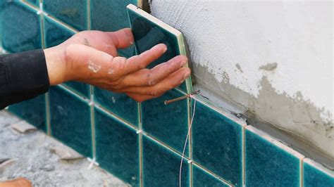 how to install ceramic tiles on exterior walls