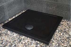 Receveur De Douche Carré 100x100 : receveur de douche en pierre noire serena black extra plat ~ Edinachiropracticcenter.com Idées de Décoration