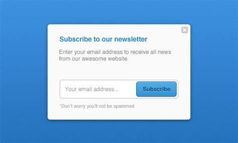 newsletter subscription form templates psd