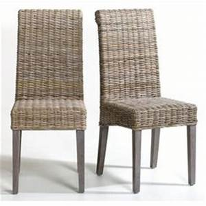 chaise de salle a manger en paille With salle À manger contemporaine avec chaise osier conforama