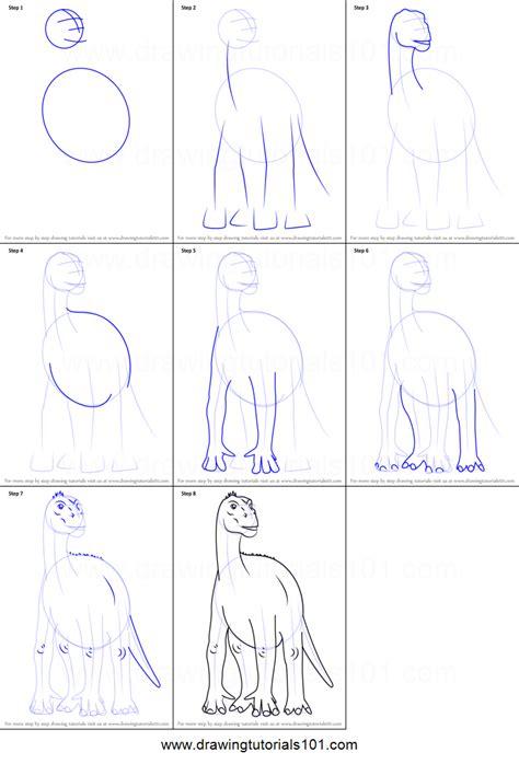 draw aladar  disney dinosaur printable step  step drawing sheet