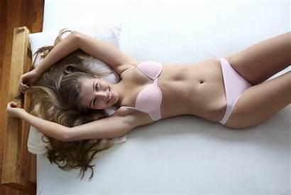 Panties Lingerie Pretty Bra Pink Bed Woman