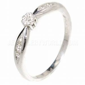 diamond engagement ring 9ct white gold with curved lozenge With wedding rings abu dhabi