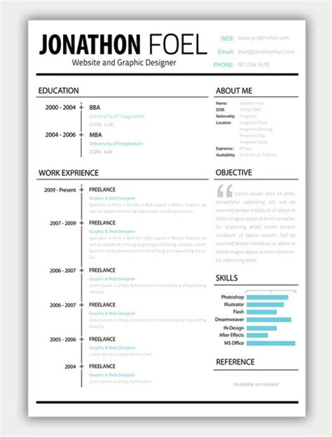 22 free creative resume template design related interests