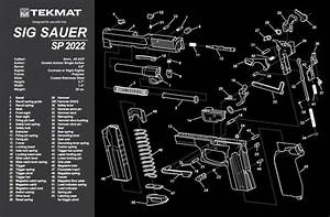 Sig Sauer Sp2022 Handgun Tekmat Gun Cleaning Mat 11x17