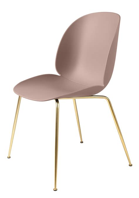 chaise gubi beetle chair gamfratesi plastic pink brass legs by