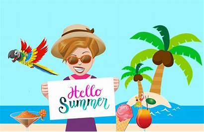 Vacation Summer Ferie Clipart Season Woman Beach