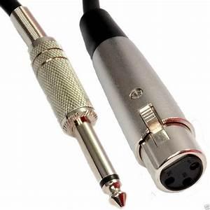 5m Xlr 3 Pin Socket To 6 35mm 1  4 Inch Mono Jack Plug