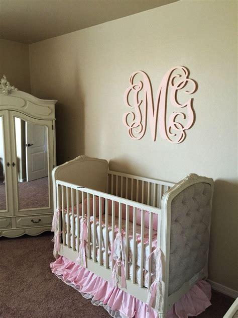 bedroom wall letters nursery monogram sign  crib