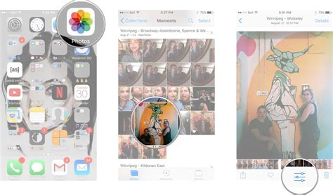 how to crop a on iphone how to rotate crop and straighten in photos for iphone
