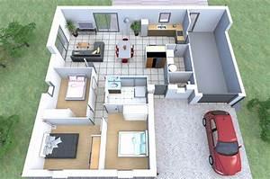 imaginez le rez de chaussee de votre maison sur mesure With construction maison en 3d