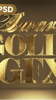 3D Gold Text Effect by Hyperpix Studio on Dribbble