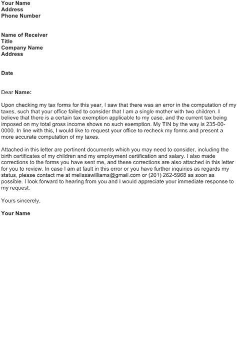 correction letter sample   business letter