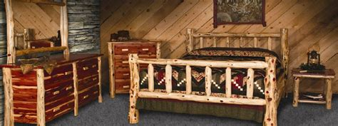 beds etc amish built solid wood cabin furniture