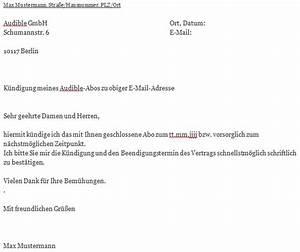 Wohnung Kündigen Per Email : audible k ndigungsschreiben ~ Lizthompson.info Haus und Dekorationen