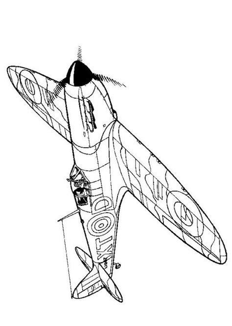 kids  funcom coloring page wwii aircrafts spitfire
