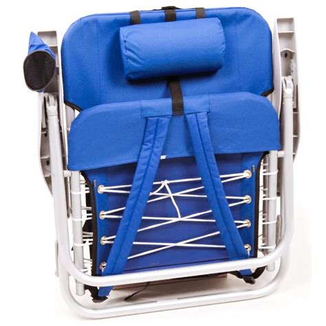 Gear Backpack Chair Blue by Sc529 Hi Back Backpack Chair