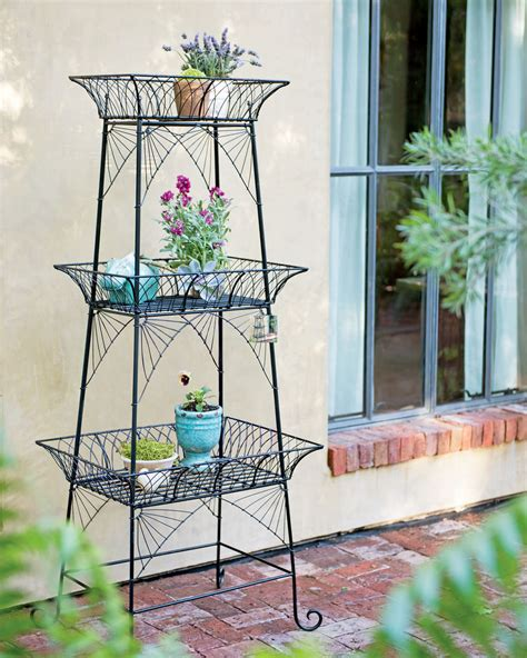 Plant Etagere by Wire Plant Stand Bathroom Etagere Black Metal Plant Stand