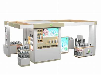 Kiosk Mall Retail Simple Stand Display Cosmetic
